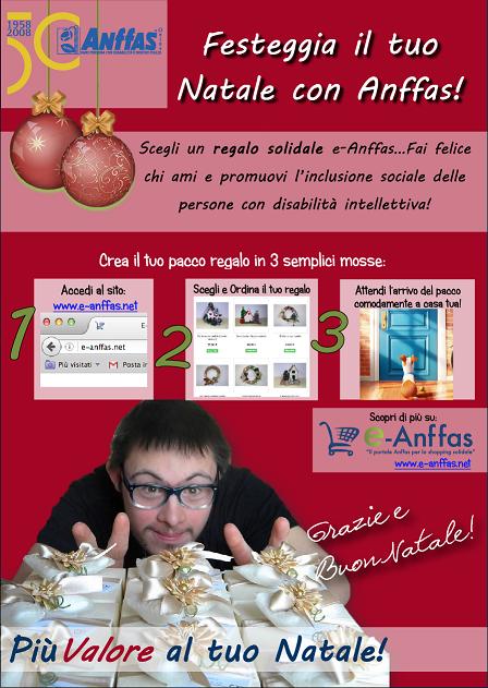 Locandina e-Anffas, regalo solidale anffas natale
