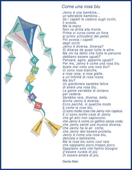 Poesia , come una rosa blu