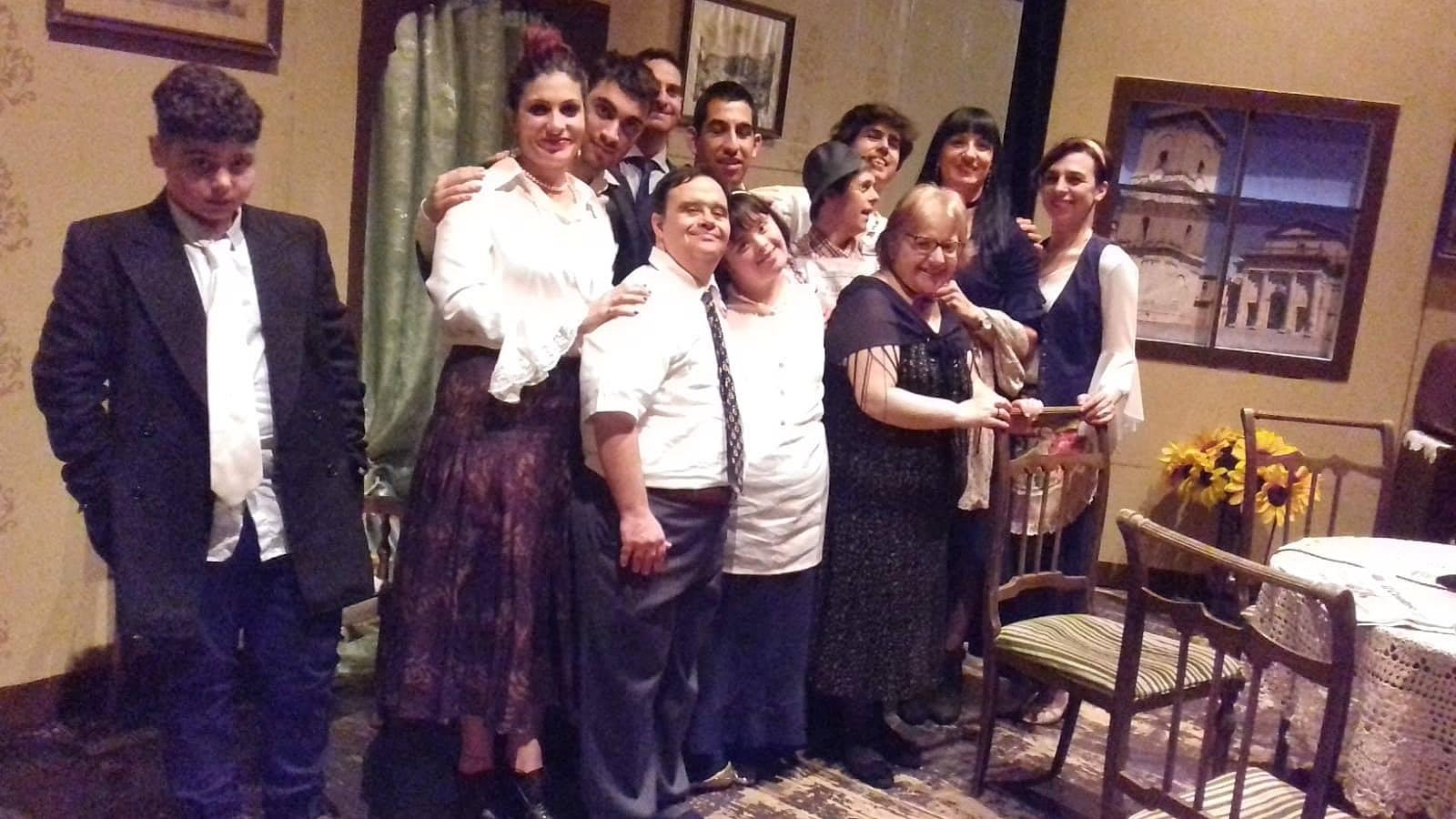 Foto di gruppo degli attori